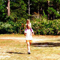 Father and Daughter Orienteering