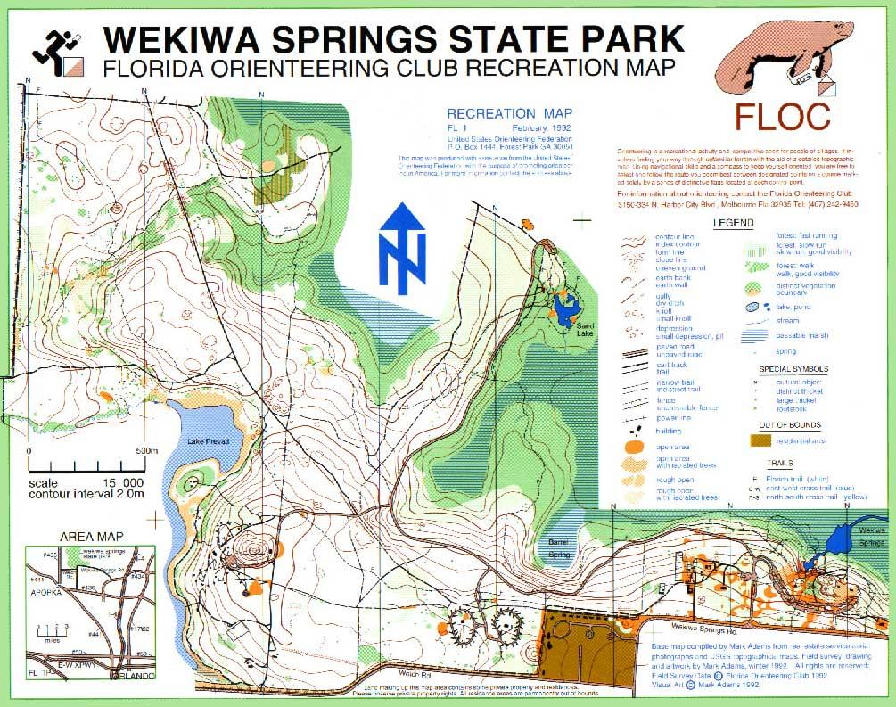 Florida Orienteering - Florida map state parks